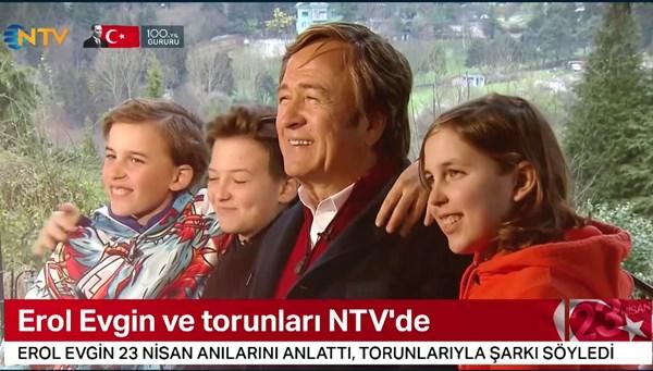 Erol Evgin ve torunları NTV'de
