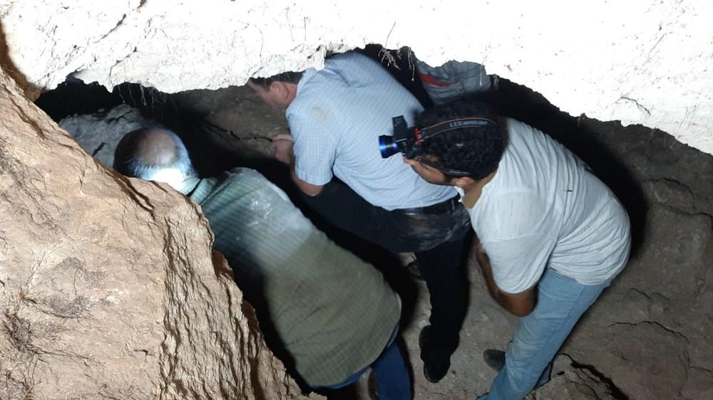 Adıyaman'da foseptik çukuru kazarken tünel buldular - 5