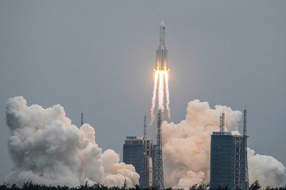 Çin'in kontrolden çıkan roketi ilk kez görüntülendi - 7