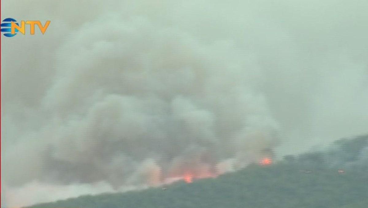 NTV ekibi yangın bölgesinde: Kemerköy termik santralinde son durum