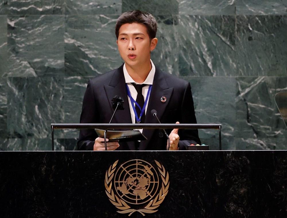 BTS grubu Birleşmiş Milletler Genel Kurulu'nda konuştu - 5