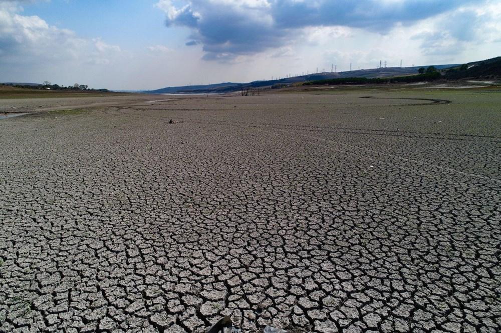 Suların çekildiği Sazlıdere Barajı'nda korkutan görnütü - 2