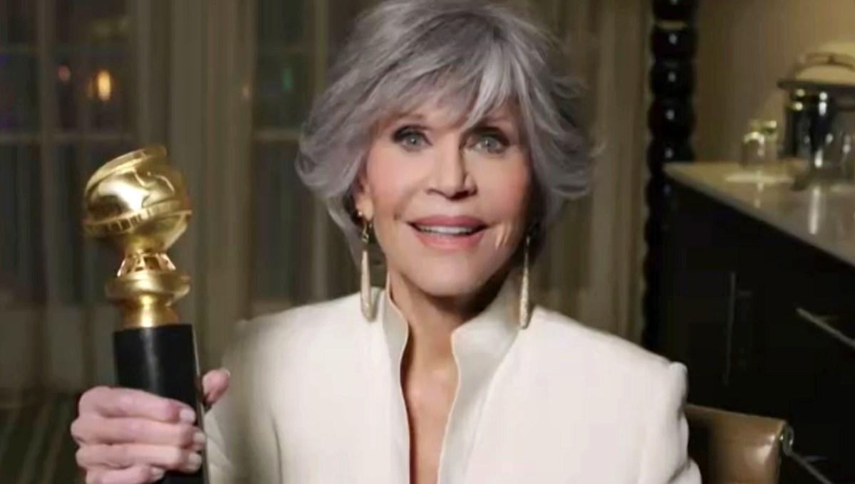 Jane Fonda Altın Küre'de konuştu, kimse dinlemedi