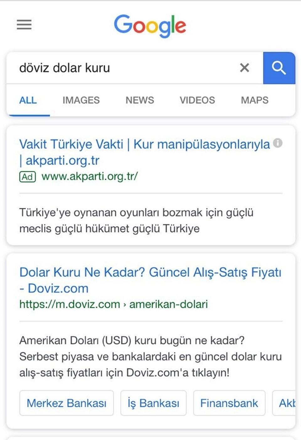 Dolar arayanlara AK Parti'nin beyannamesinden kurla mücadele maddesi geliyor.