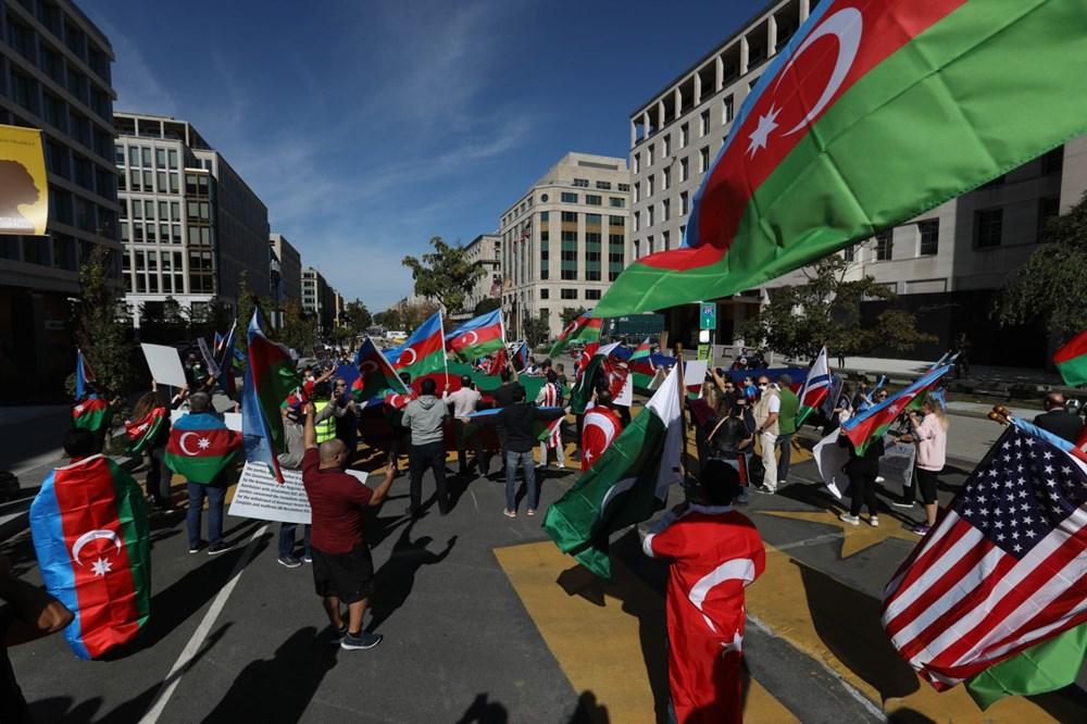 Beyaz Saray önünde Azerbaycan'a destek mitingi düzenlendi - 8