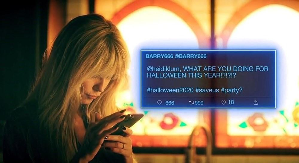 Heidi Klum Cadılar Bayramı'nda ailesiyle evde korku filmi çekti - 8