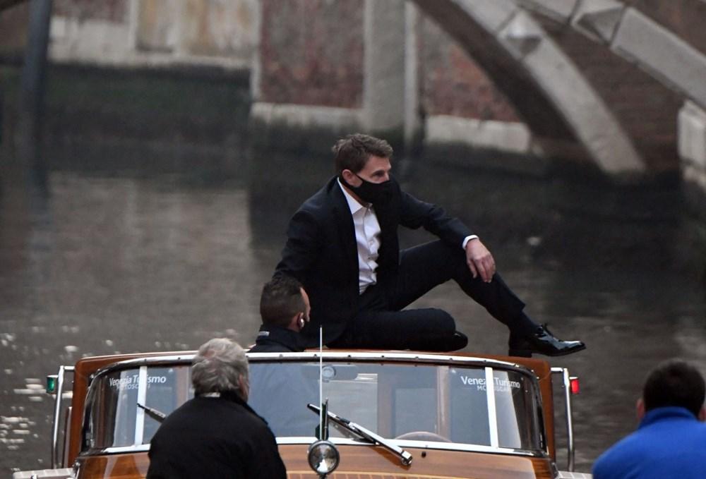 Tom Cruise Görevimiz Tehlike 7 filminin Venedik'teki setinde - 6