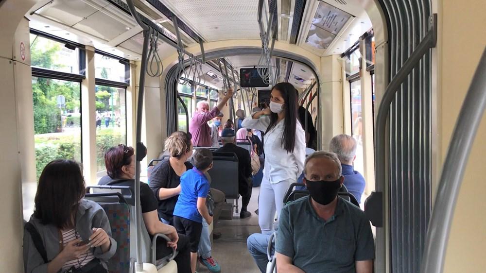 Sosyal mesafeye uymayan yolculara kızıp hareket etmedi - 7