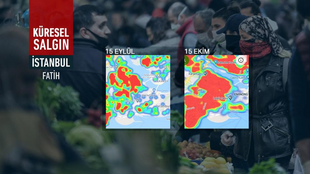 İstanbul'da vakalar yine arttı: Harita kırmızıya büründü - 4