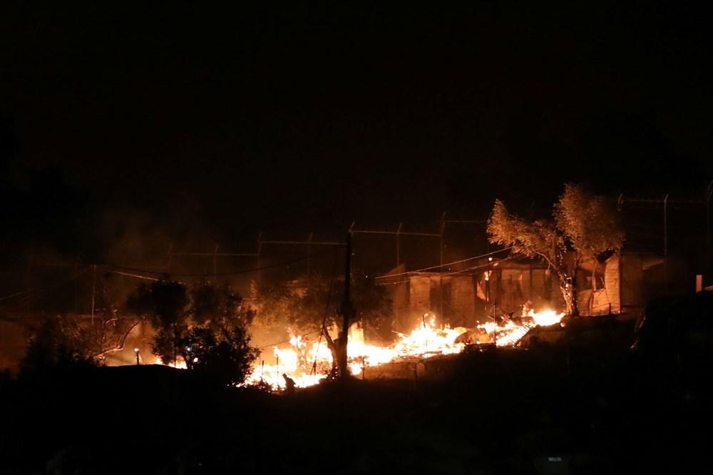 Midilli'deki sığınmacı kampında yangın - 3