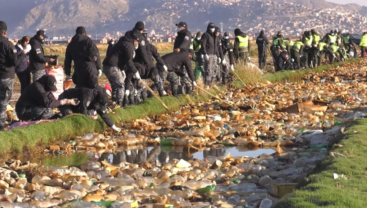 They went into the arsenic lake and collected trash