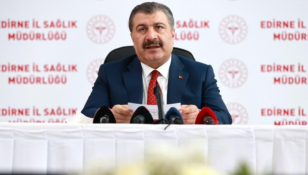 SON DAKİKA:Sağlık Bakanı Fahrettin Koca, Edirne'de açıklamalarda bulundu
