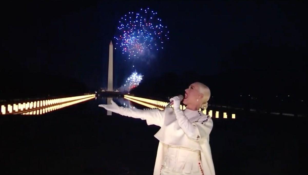 ABD'de yemin töreni kutlamasına Katy Perry damga vurdu