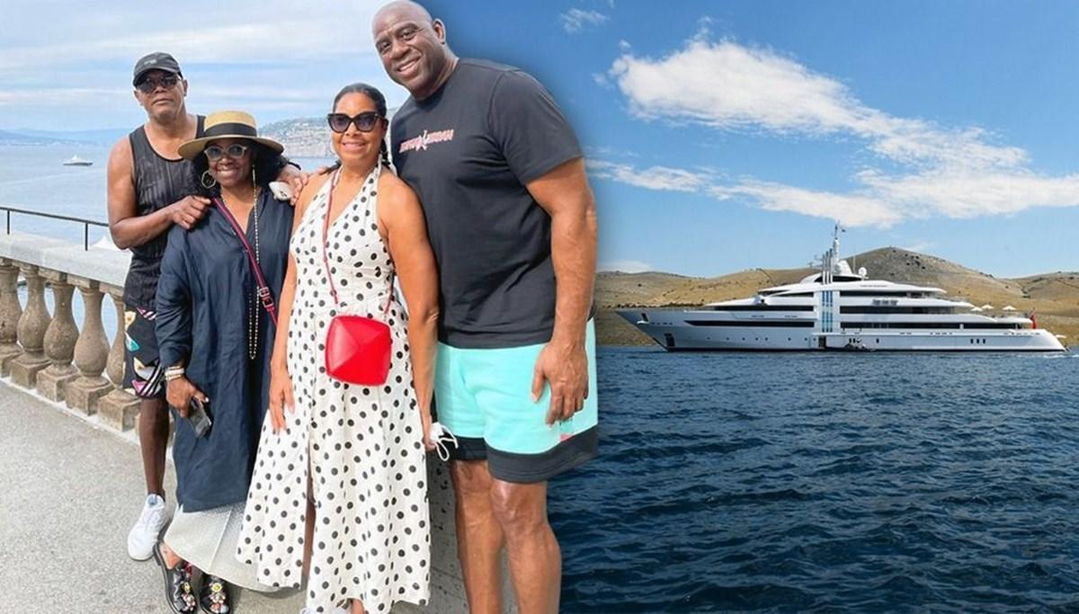 Magic Johnson'ın haftada 1 milyon dolar tutan yat tatili