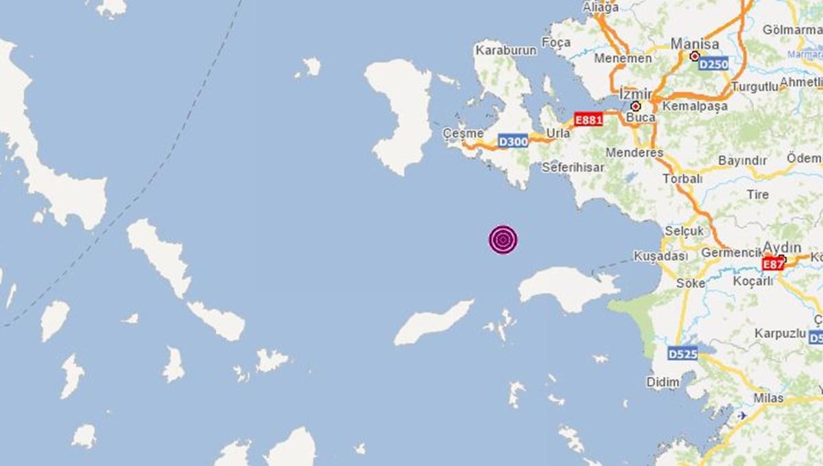 SON DAKİKA HABERİ: İzmir Urla açıklarında 4,2 büyüklüğünde deprem