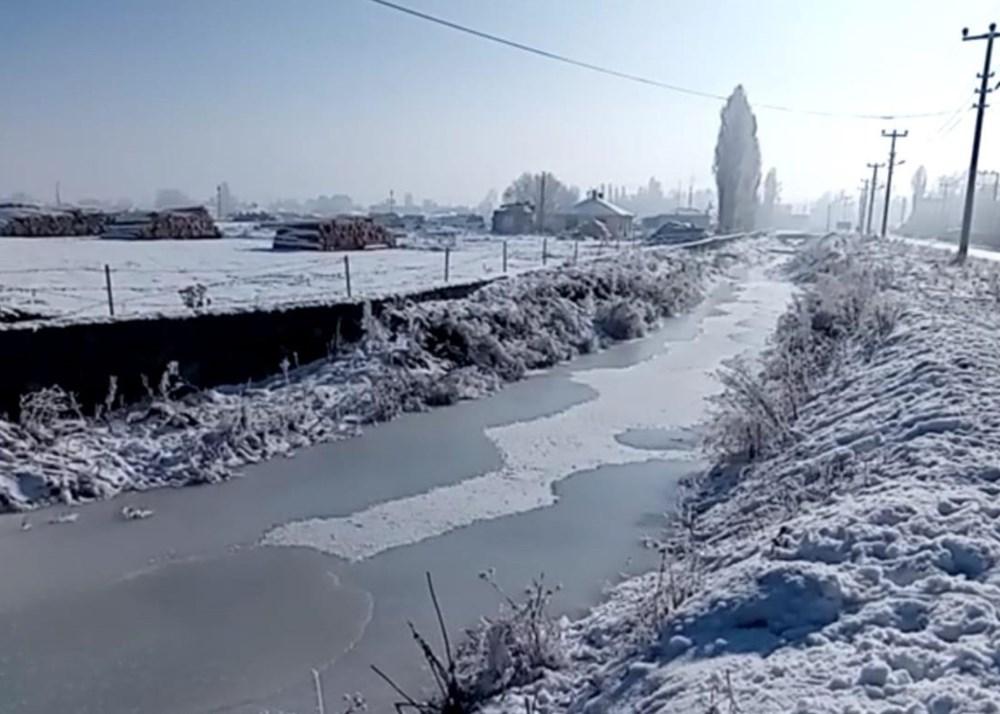 Ardahan dondu: Göle eksi 25'i gördü - 16