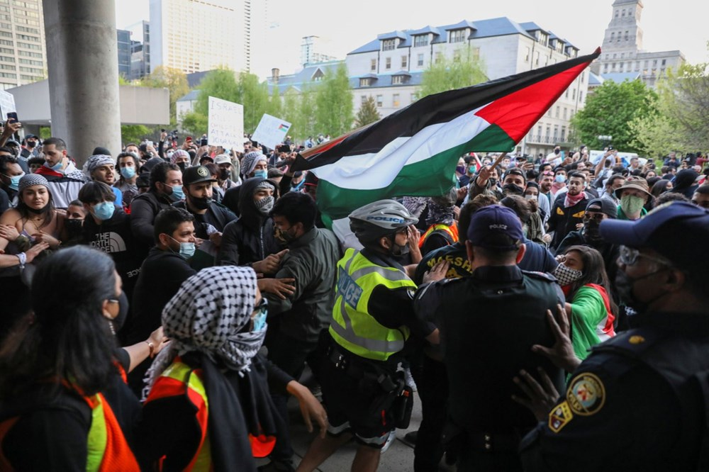 Israel's attacks on Palestinians were protested in Canada - 6