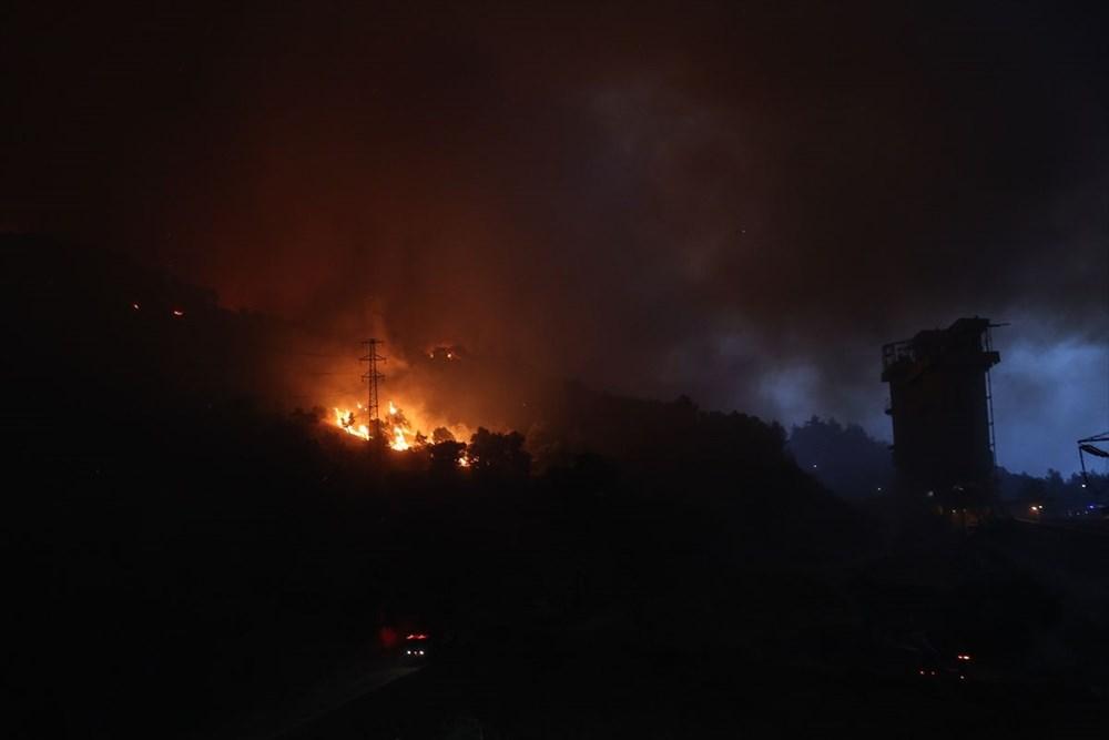 Milas'ta yangın bölgesindeki vatandaşlar tahliye ediliyor - 17