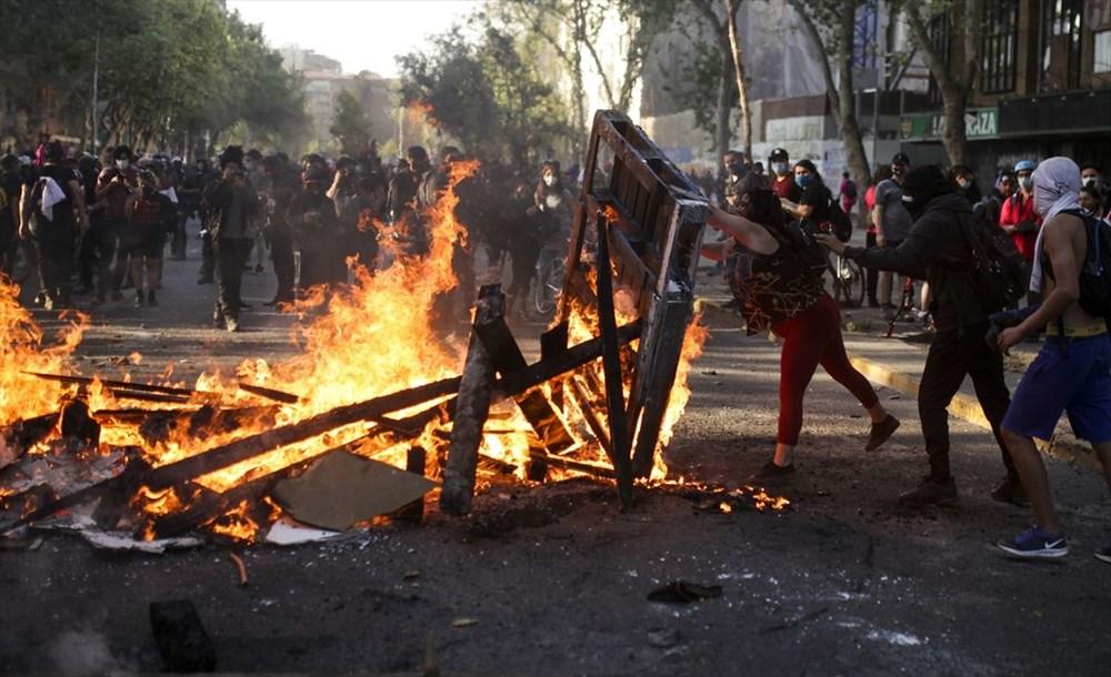 Şili'deki protestoların yıldönümü yaklaşırken sokaklarda tansiyon artıyor - 6