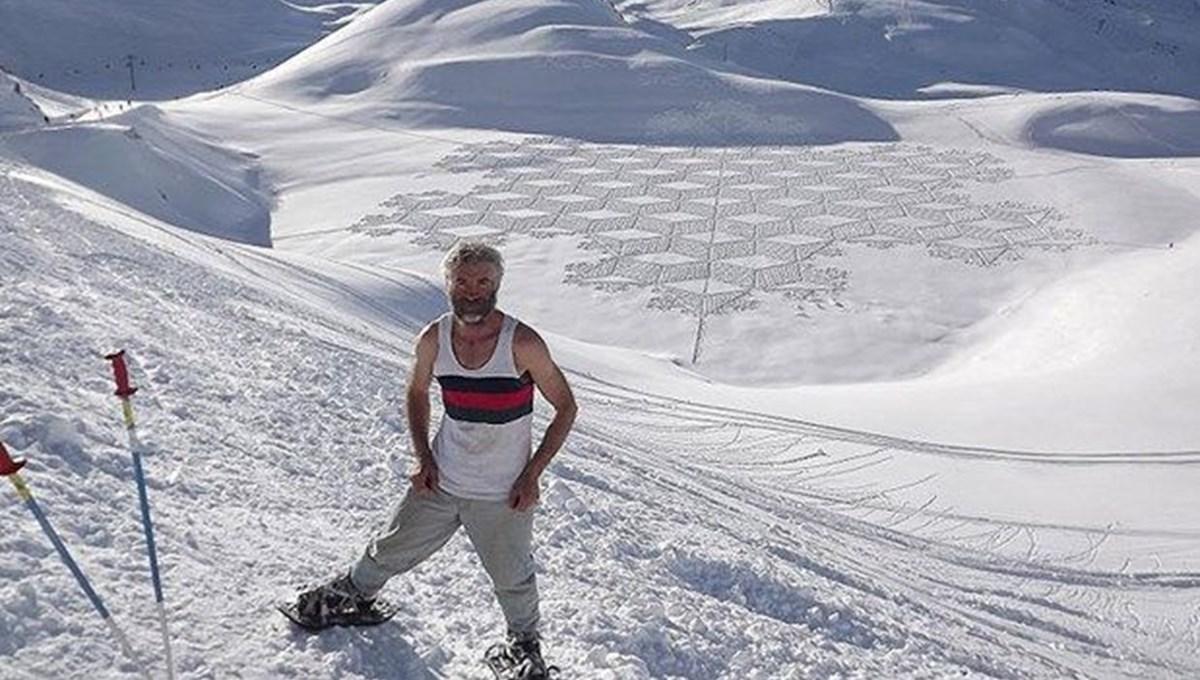 Kar ressamı Simon Beck'ten kar üzerinde sanat eserleri