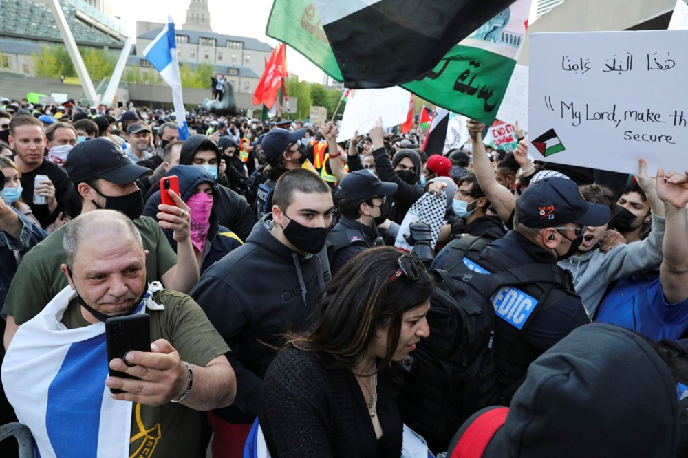 Israel's attacks on Palestinians were protested in Canada - 9