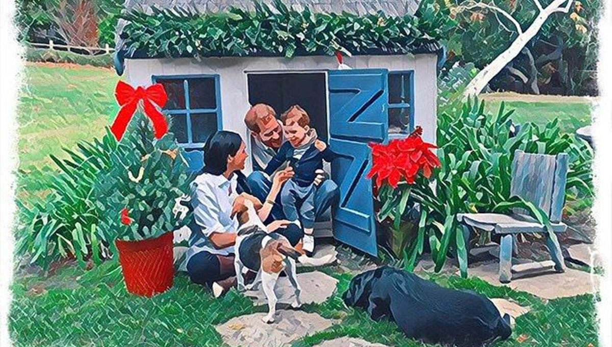 Meghan Markle ve Prens Harry'den oğulları Archie ile Noel kartı