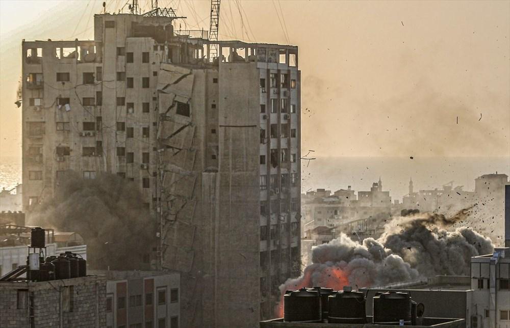 İsrail, Gazze'de sivillerin bulunduğu 14 katlı binayı vurdu - 18
