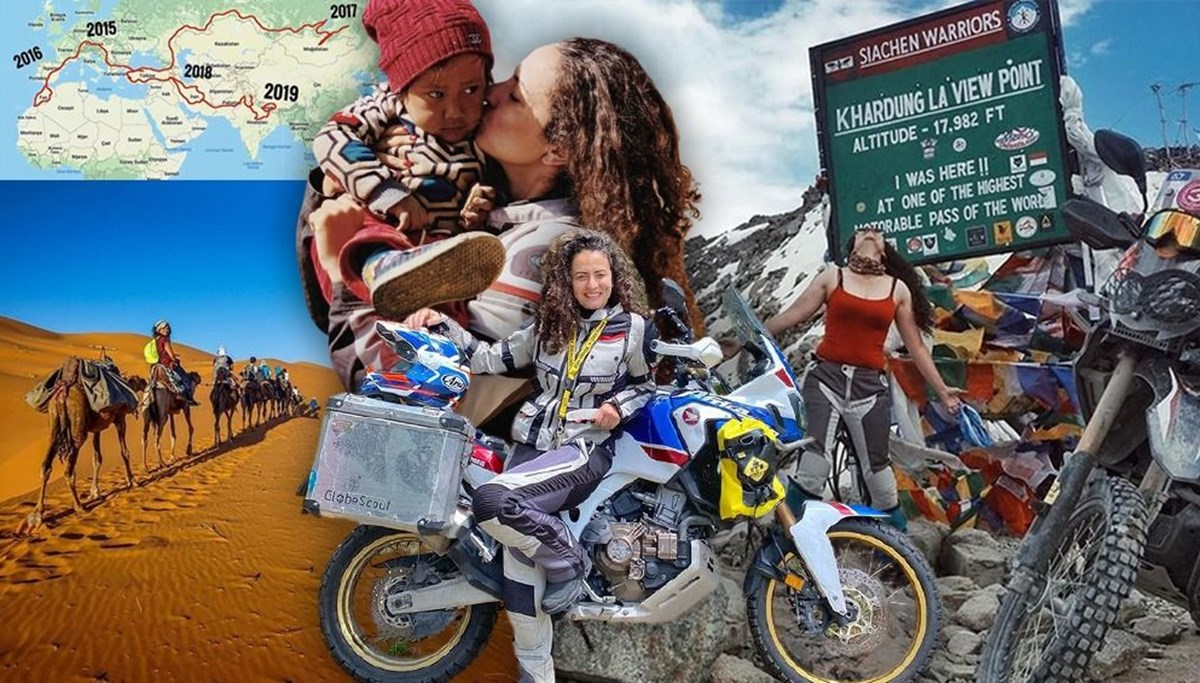 Türk gezgin Asil Özbay, motosikletiyle 3 kıtada 25 ülkeyi gezdi