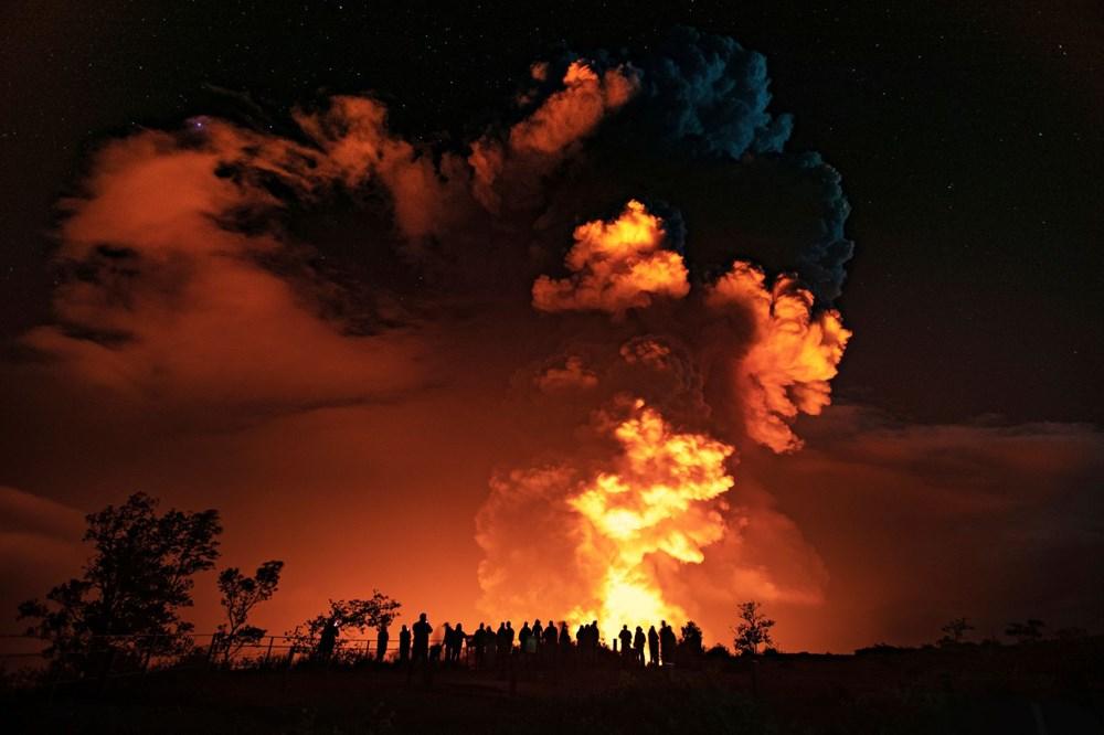Kilauea Yanardağı'nda patlamaları: Krater gölü buharlaştı - 12
