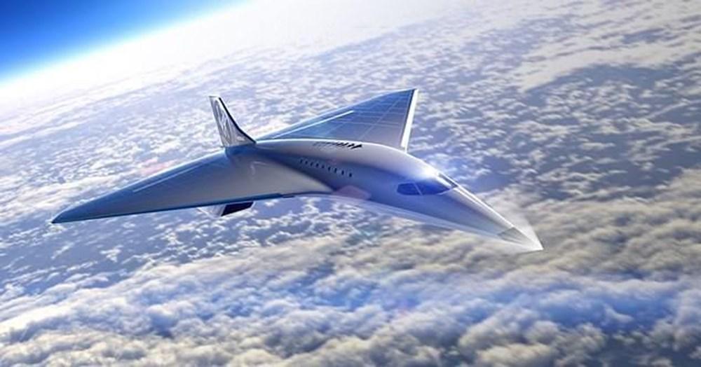 Uzay şirketi tasarımını paylaştı! İşte sesten 3 kat hızlı giden süpersonik jet - 1