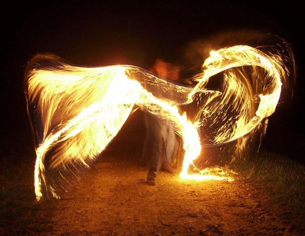 фотографировали горящее крыло клиенты, которым отдаем