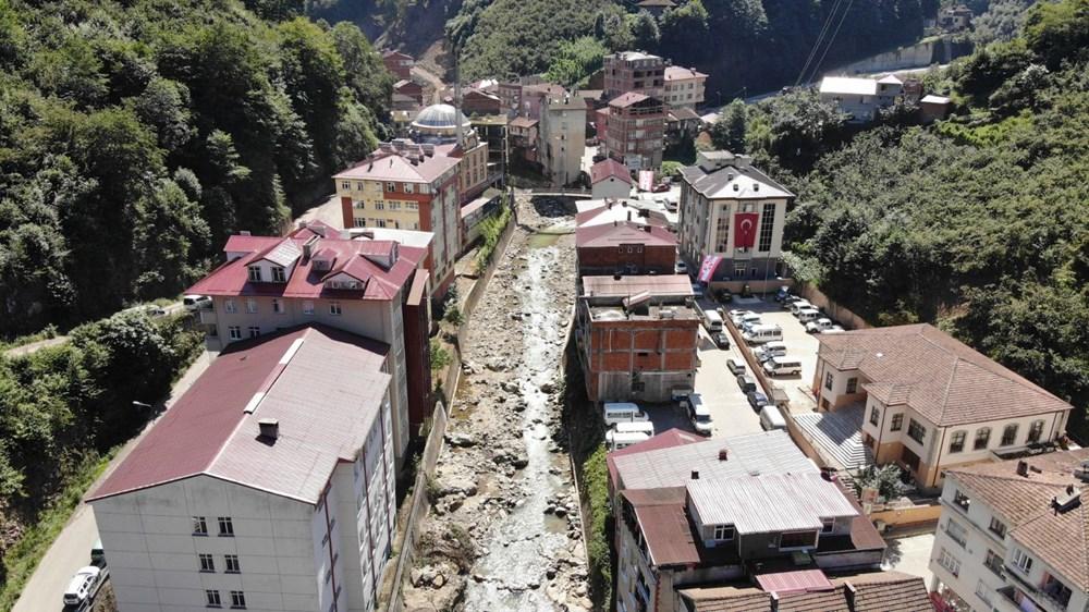 Trabzon'da tedirgin eden görüntü: Giresun'un Dereli ilçesi gibi sel riski taşıyor - 2