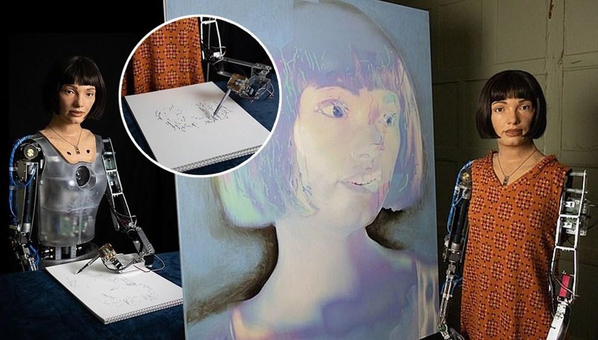 Robot Ai-Da'dan otoportre sergisi