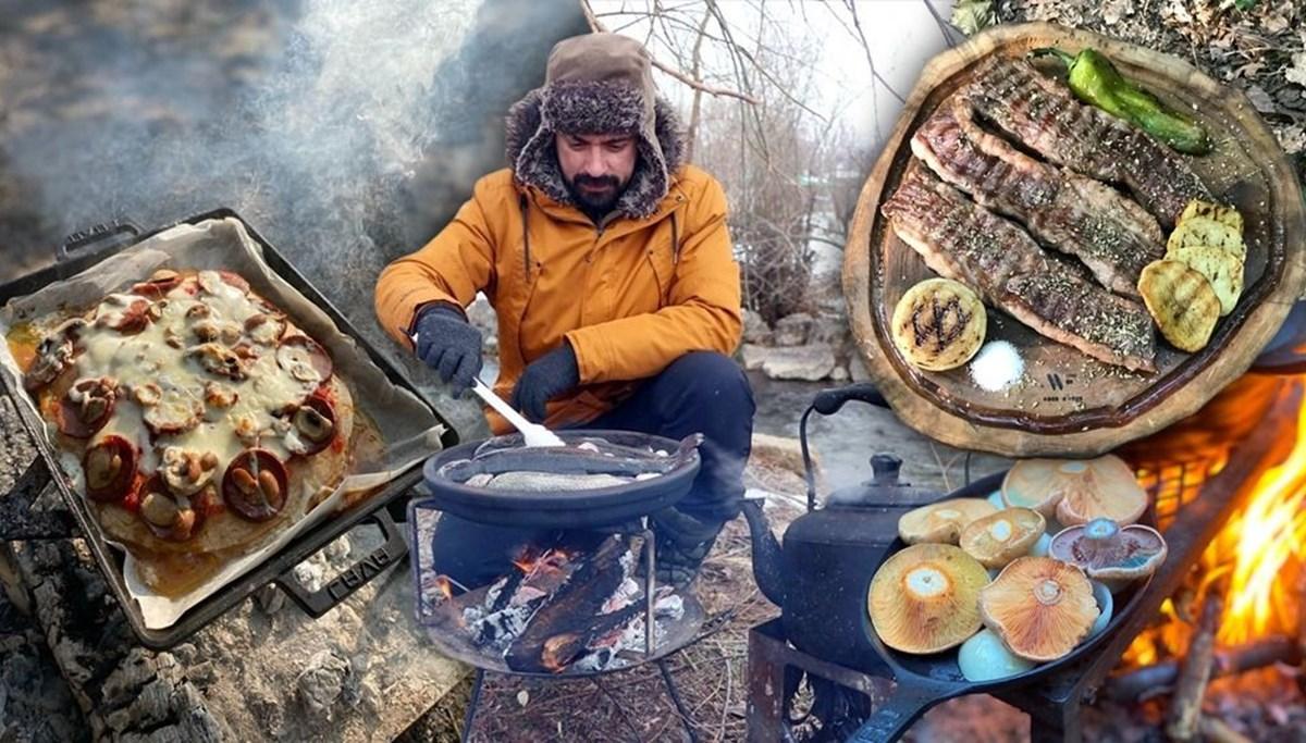 Doğada yaptığı yemeklerle kentleri tanıtıyor