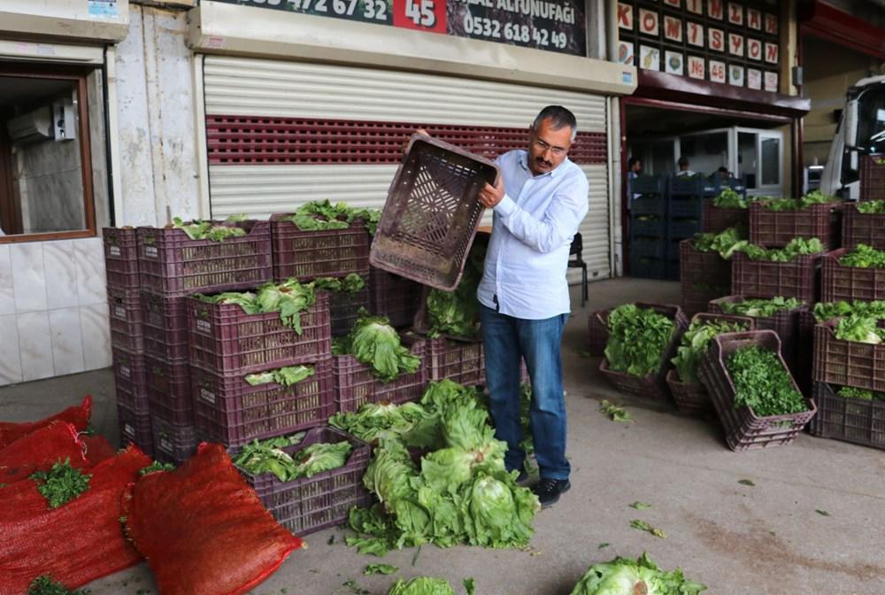 Tonlarca sebze meyve hal esnafının elinde kaldı - 9