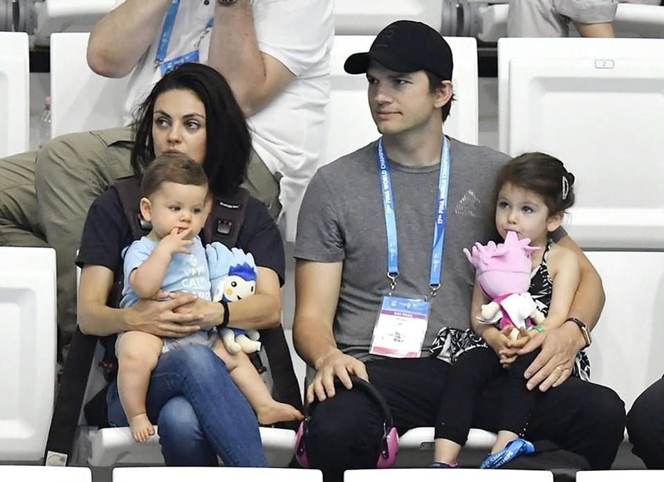 Kunis ve Kutcher çiftinin 2 çocukları var