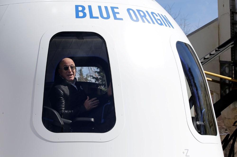Dünyanın en zengin insanı Jeff Bezos'un uzay yolculuğu gerçekleşti - 9