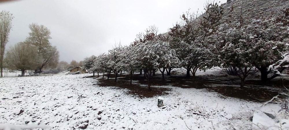 Antalya Kaş'a yılın ilk karı - 4