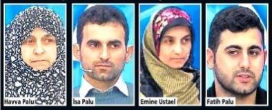 Anne Havva Palu'nun kızı ve torununu öldüren damat Tuncer Ustael'e yardım ettiği iddia ediliyor.Tuncer Ustael'in karısının kardeşi İsa Palu'nun bacanak Ahmet'in cinayetinde yardım ettiği iddiası var. Eşi Emine Ustael ise yüzündeki morluklara rağmen her ortamda, TV ekranlarında bile kocasını savunuyor. Fatih Palu ise baştan beri çelişkili ifadeler veriyor.