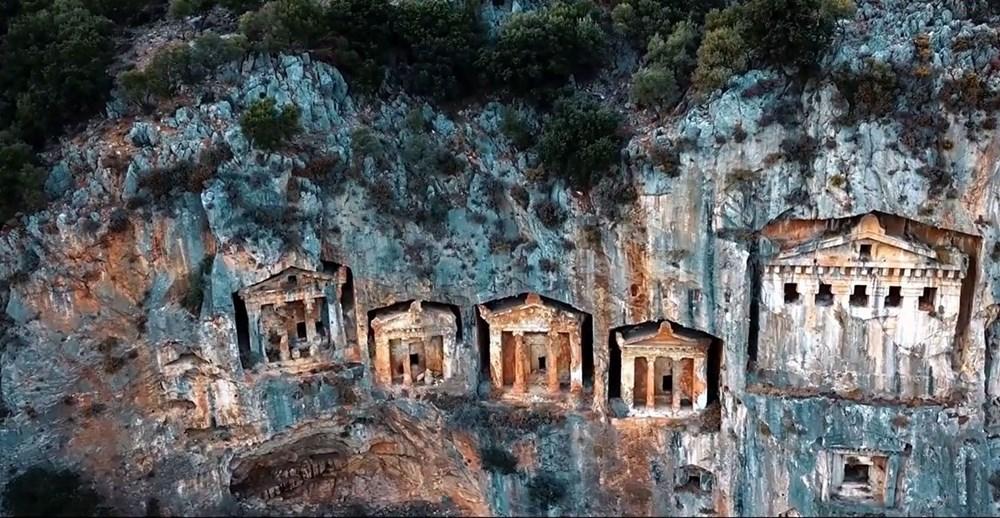 Kaunos Antik Kenti'ndeki kaya mezarları yok olma tehlikesiyle karşı karşıya - 2