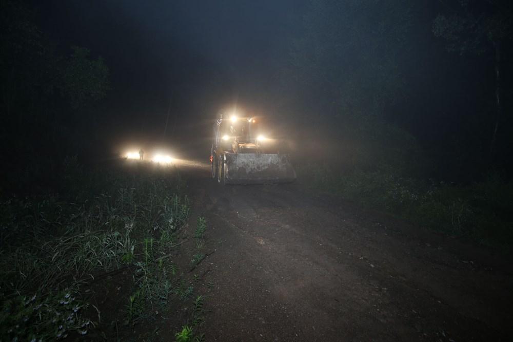 Düzce'de dere taştı, yol çöktü: Kentte sağanak etkili oldu - 10