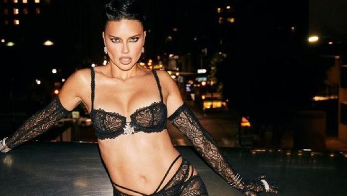 Adriana Lima, Rihanna'nın iç çamaşırı markasını tanıttı