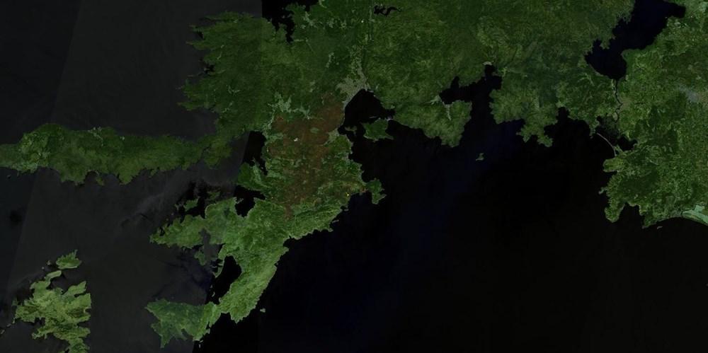 Orman yangınları uydudan böyle görüntülendi - 2