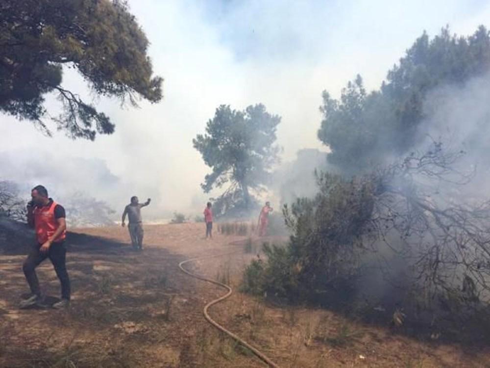 Antalya'da korkutan yangın: Kum taşıdılar - 14