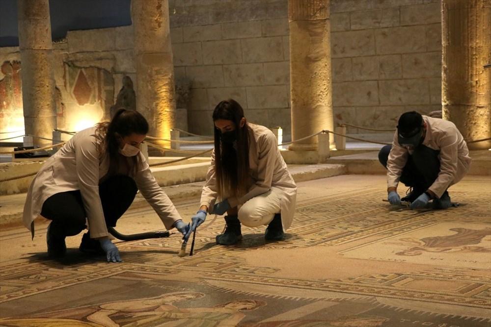 Zeugma Mozaik Müzesi'ndeki eserler, cerrah hassasiyetiyle temizlenerek geleceğe aktarılıyor - 10