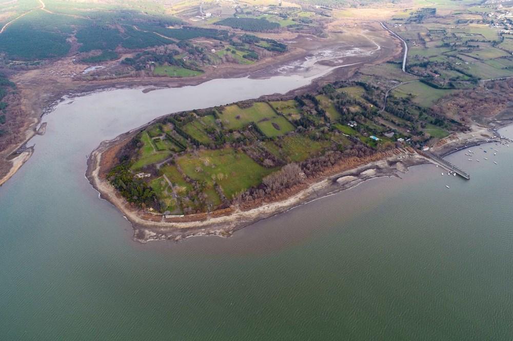 Terkos Gölü 100 metre çekildi, kirlilik ortaya çıktı - 19
