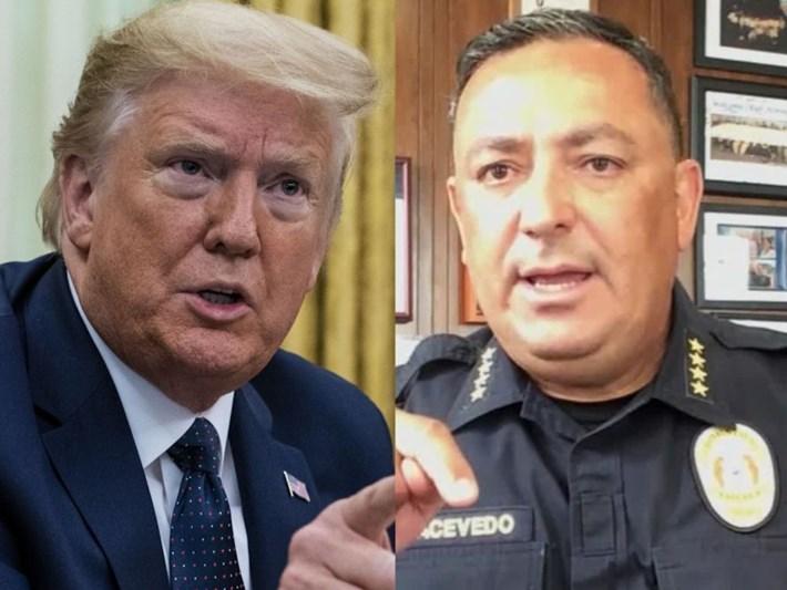 Polis şefinden Trump'a: Çeneni kapat