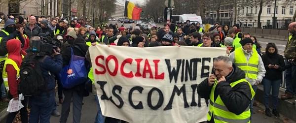 """Belçika'da da """"sarı yelekliler"""" protestosu"""