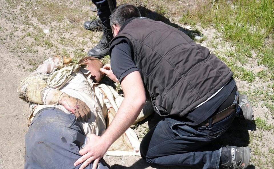 Ağır yaralanan şoföre ilk müdahaleyi polis ekipleri yapmıştı
