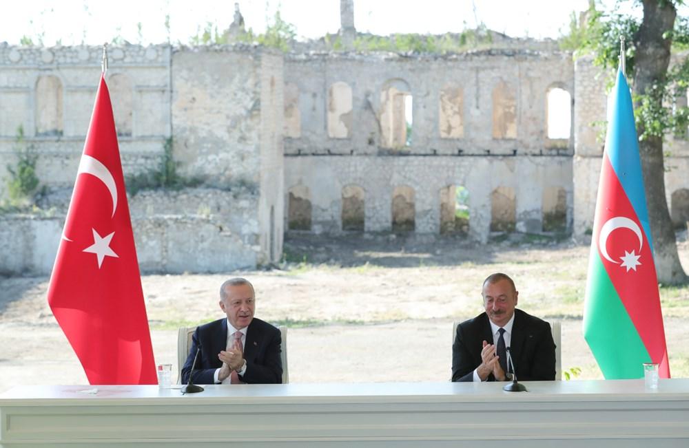 Cumhurbaşkanı Erdoğan ve Aliyev Şuşa Beyannamesi'ni imzaladı - 9